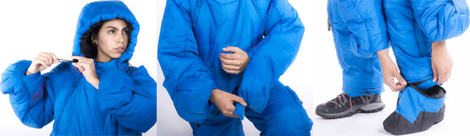 Selkbag Sleeping Bag Features with Arms, Legs, Hood and Detachable Feet