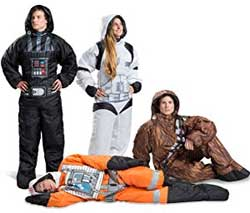 Star Wars Wearble Sleeping Bags: Chewbacca, Darth Vader, Storm Trooper and Rebel Pilot