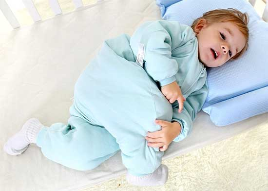 Blue Baby Sleeping Bag with Legs