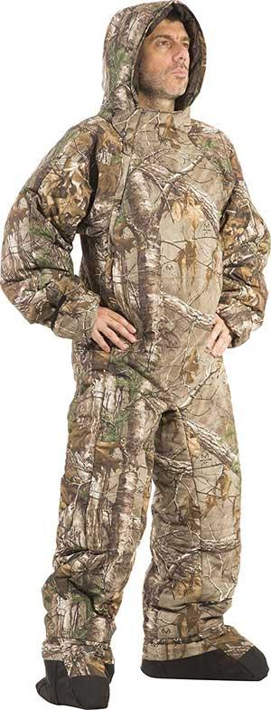 Selkbag Camouflage Sleeping Bag Onesie with Removable Booties