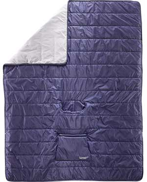 Poncho Sleeping Bag Unfolded  into a Large Blanket