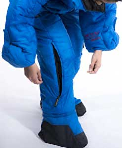 Zipping Air Vent in Leg of Selkbag Wearable Sleeping Bag