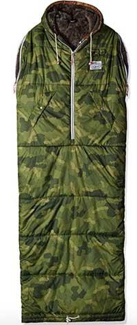 Poler Sleeveless Shaggy Napsack Wearable Sleeping Bag with Fur