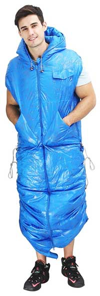Sleeping Bag With Arm Holes And A Hood